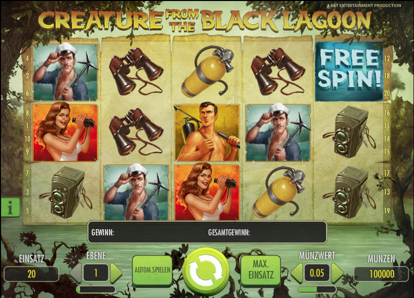 Creature from the Black Lagoon Slot spielen